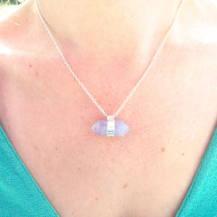 Quartz Crystal Necklace by Raw Elements Jewelry