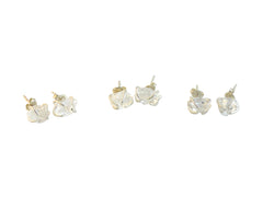 Herkimer Diamond Studs by Raw Elements Jewelry