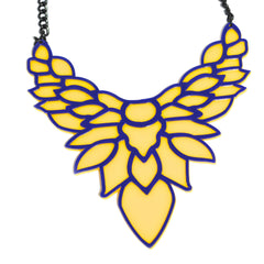 Feather Haute Acrylic Necklace