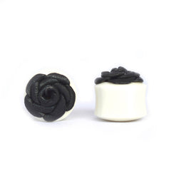 Leather Sacred Rose Plugs