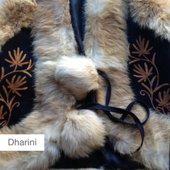 Light Kashmiri Fur Trimmed Vest