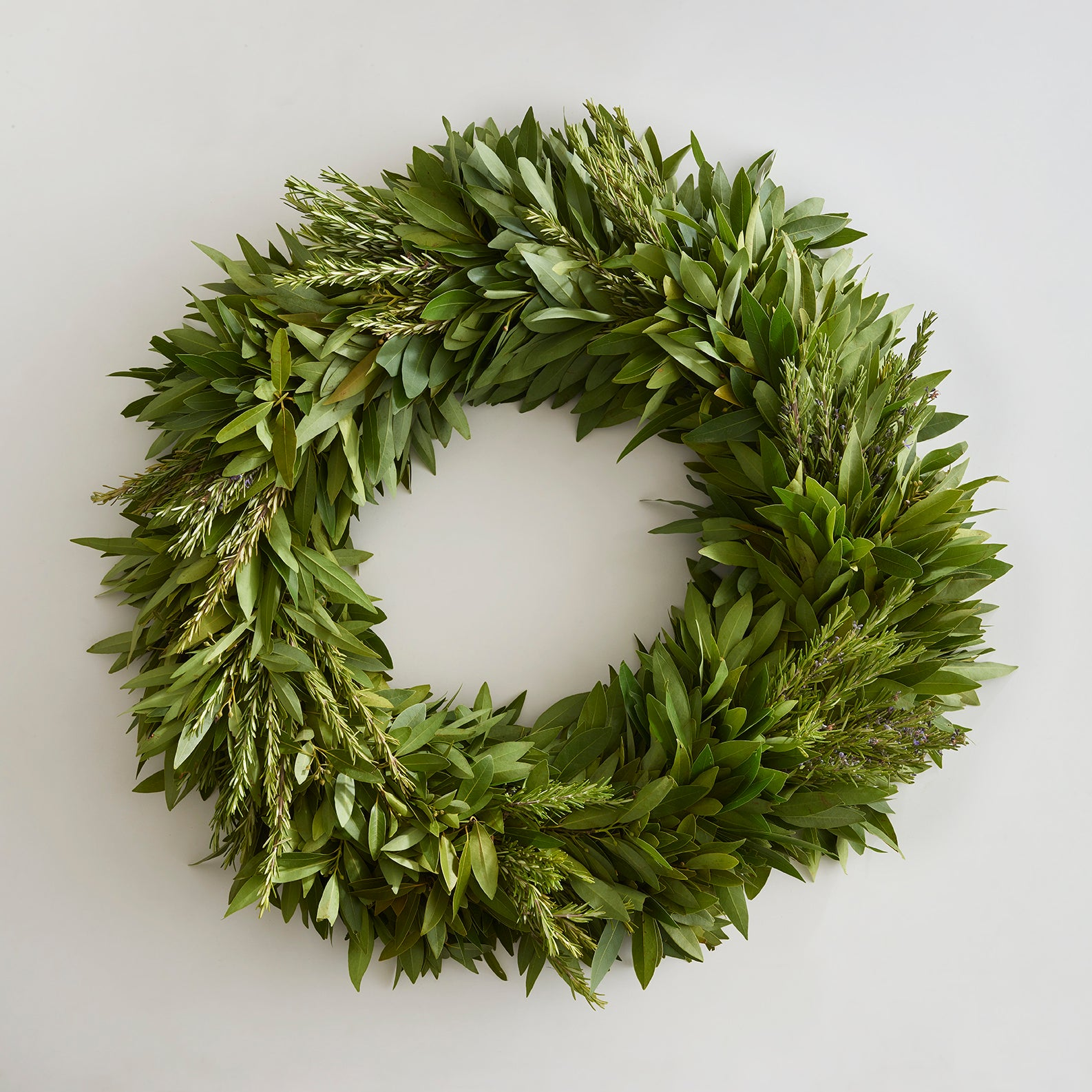 Bay Leaf Wreath with Rosemary