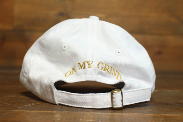 white/gold dad hats