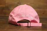 pink/white dad hats