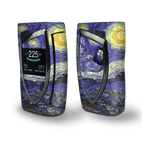 Skin Decal Vinyl Wrap for Smok Devilkin Kit 225w Vape (includes TFV12 Prince Tank Skins) skins cover / Tardis Starry Night