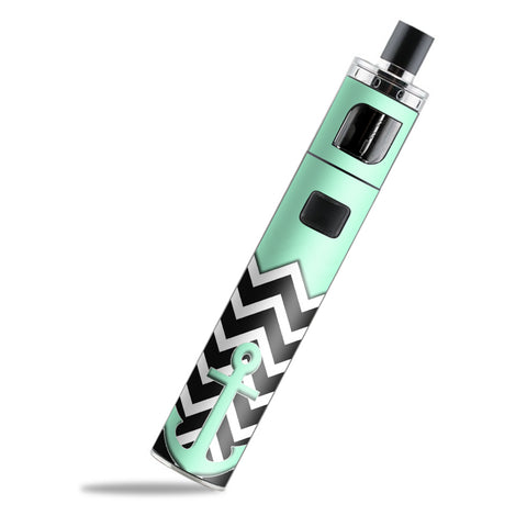 Teal  Black Chevron  Anchor PockeX Aspire Skin