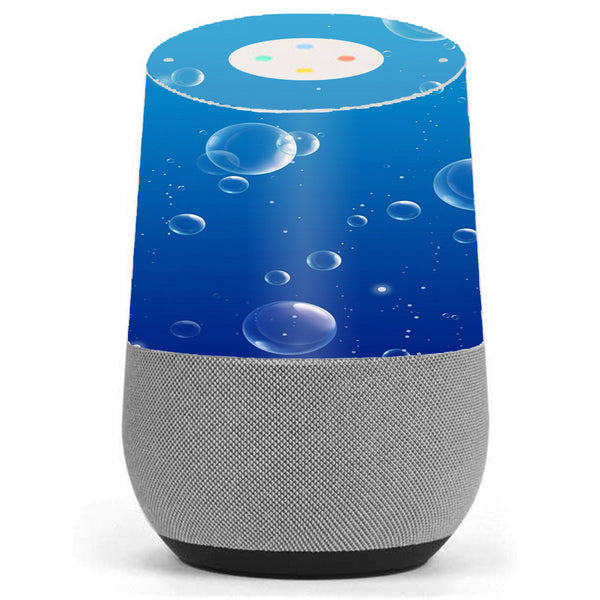 Water Bubbles Google Home Skin