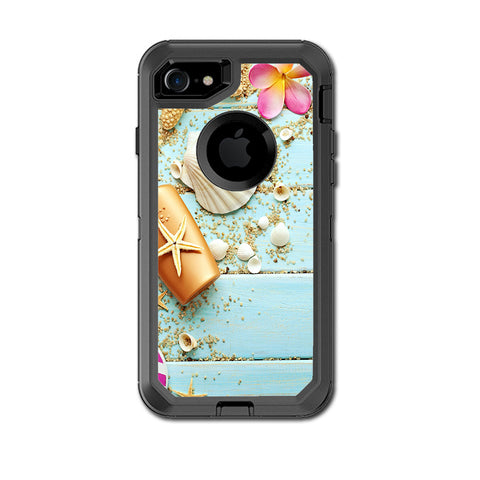 Seashell Otterbox Defender iPhone 7 or iPhone 8 Skin