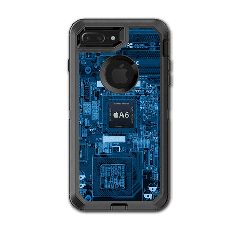 Circuit2 Blue Otterbox Defender iPhone 7+ Plus or iPhone 8+ Plus Skin