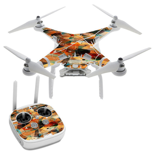 Abstract Triangles DJI Phantom 3 Professional Skin