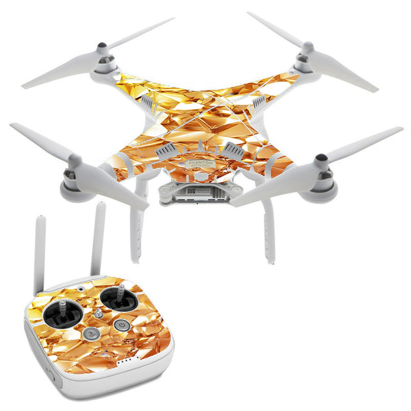 Geometric Gold DJI Phantom 3 Professional Skin