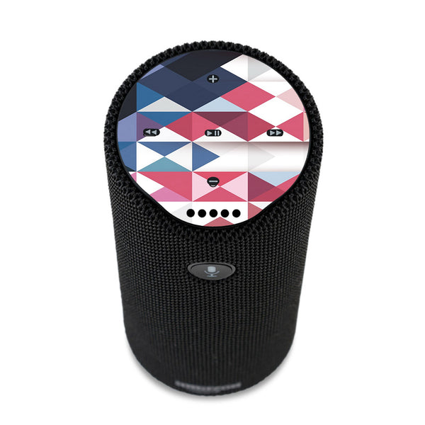 Geometric Red Amazon Tap Skin