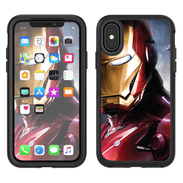 the best attitude dc117 1e4eb Ironman Otterbox Defender Apple iPhone X Skin