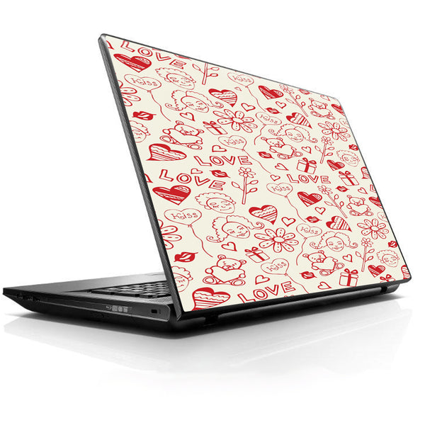 Love Hearts Universal 13 to 16 inch wide laptop Skin