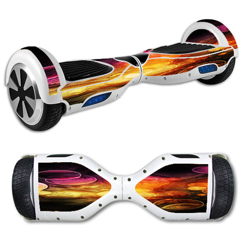 Orange Bubbles Hoverboards  Skin
