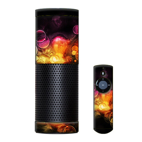 Orange Bubbles Amazon Echo Skin