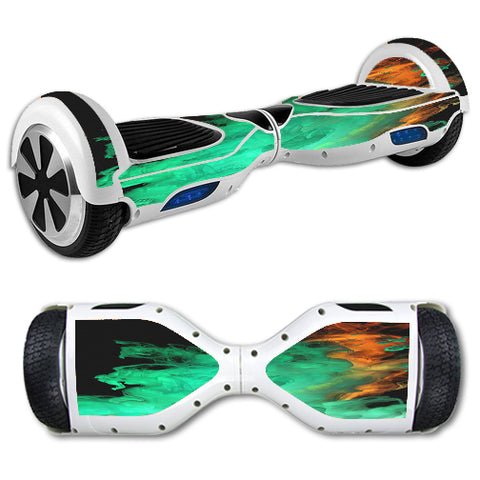 Orange Green Smoke Hoverboards  Skin