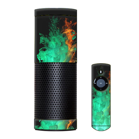 Orange Green Smoke Amazon Echo Skin