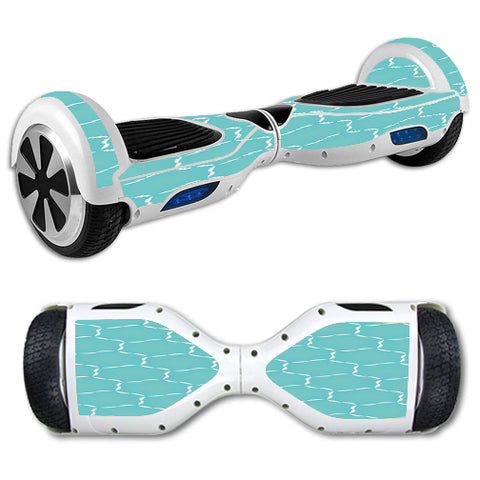 Blue Hexagon Hoverboards  Skin