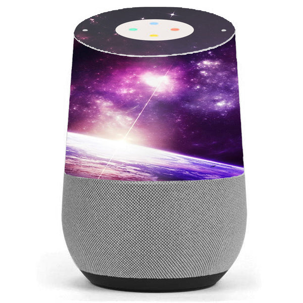 Galaxy Purple Nebula Google Home Skin