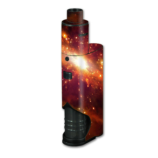 Galaxy Orange Nebula Kangertech dripbox Skin