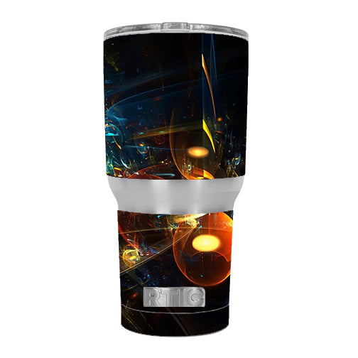 Abstract Art Bubbles RTIC 30oz Tumbler Skin