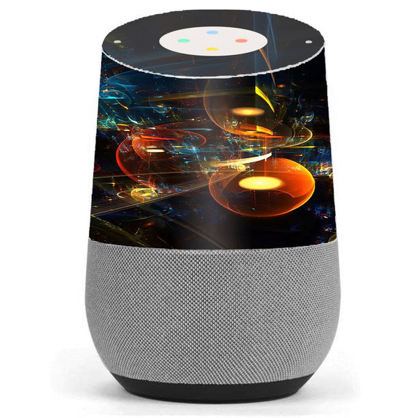 Abstract Art Bubbles Google Home Skin
