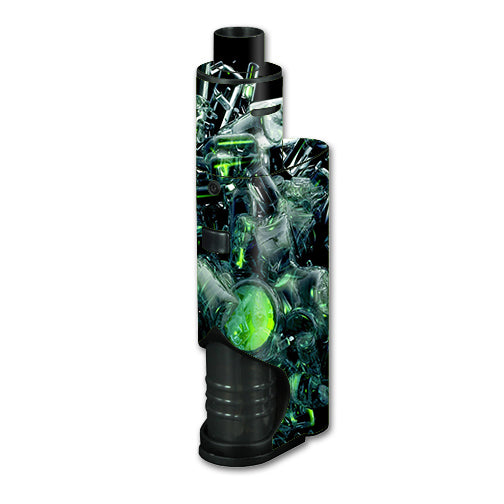 Trippy Glass 3D Green Kangertech dripbox Skin