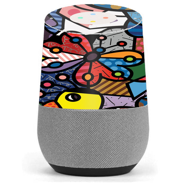 Butterfly Stained Glass Google Home Skin