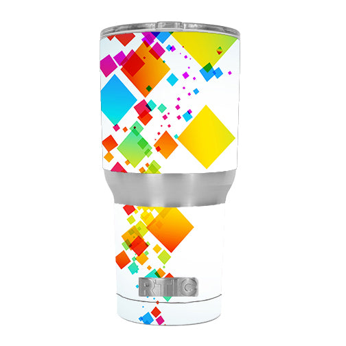 Colorful Abstract Graphic RTIC 30oz Tumbler Skin
