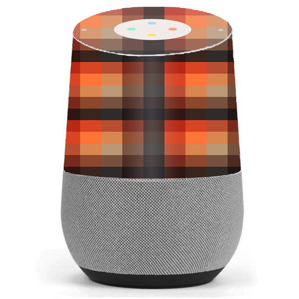 Orange Brown Plaid Google Home Skin