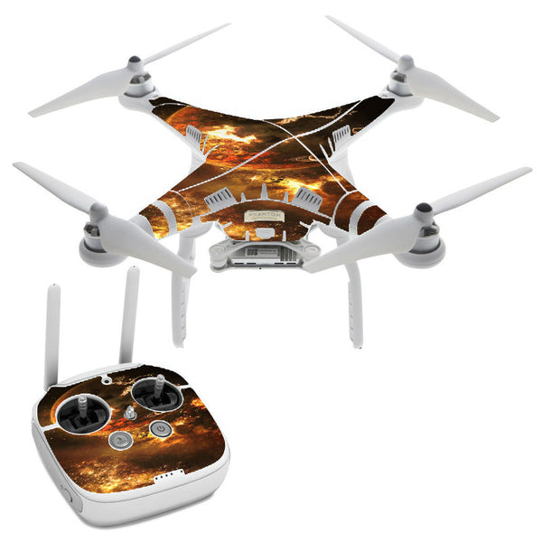 Planets Fire Saturn Rings DJI Phantom 3 Professional Skin
