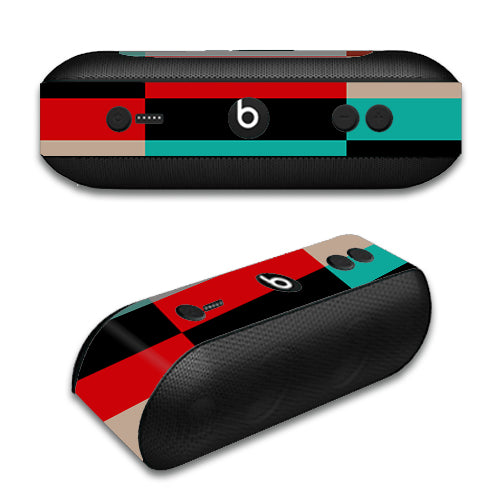 Colorful  Boxes Checkers Beats by Dre Pill Plus Skin