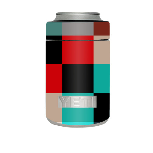 Colorful  Boxes Checkers Yeti Rambler Colster Skin