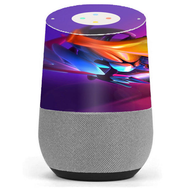 Futuristic Digital Glass Google Home Skin