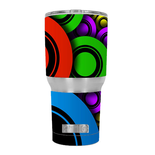 Awesome Circles Trippy RTIC 30oz Tumbler Skin