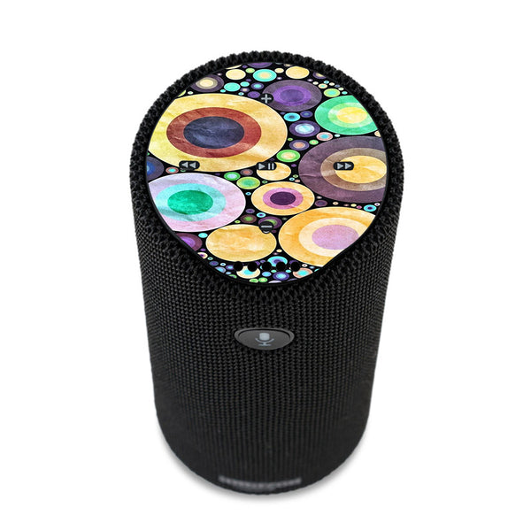 Abstract Circle Canvas Amazon Tap Skin