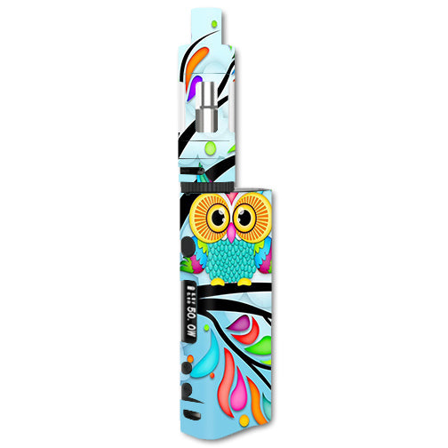 Colorful Artistic Owl In Tree Kangertech Subox Nano Skin