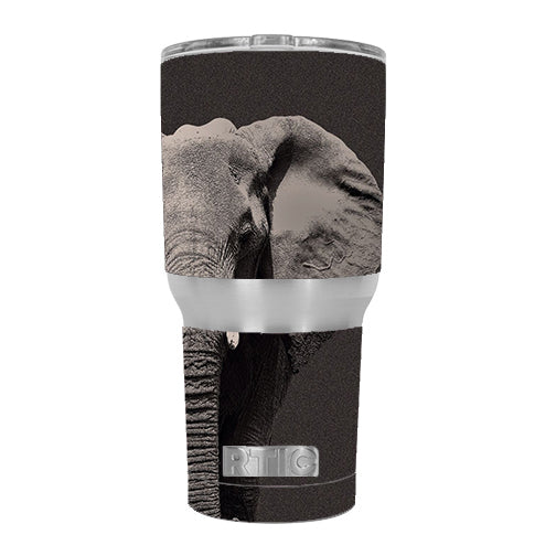 Close Up Of The Elephant RTIC 30oz Tumbler Skin