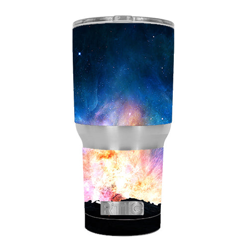 Power Galaxy Space Gas RTIC 30oz Tumbler Skin