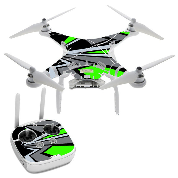 Triangle Pattern Green Grey DJI Phantom 3 Professional Skin