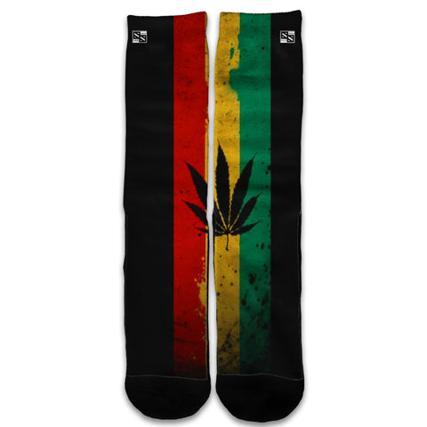 Rasta Weed Pot Leaf Red Universal Socks