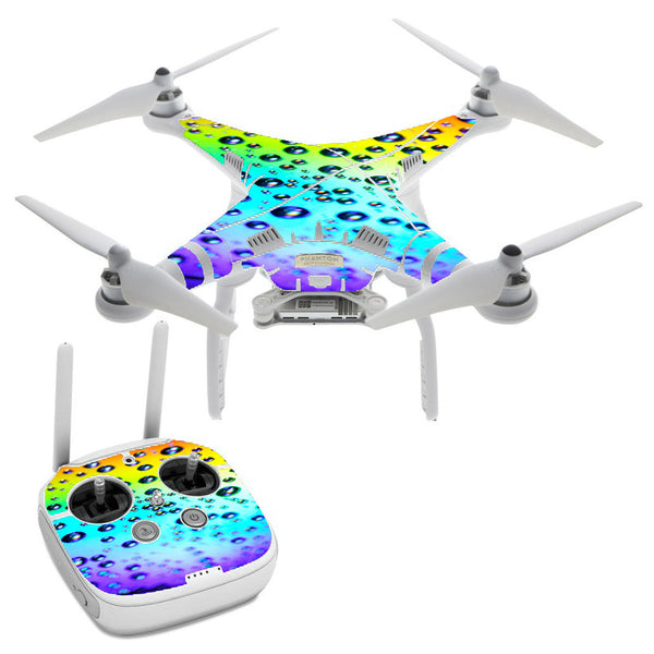 Rainbow Water Drops DJI Phantom 3 Professional Skin