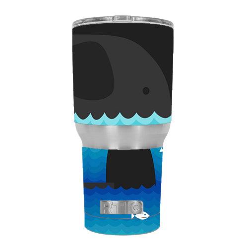 Elephant Art Water Fish RTIC 30oz Tumbler Skin