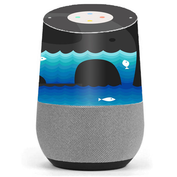 Elephant Art Water Fish Google Home Skin
