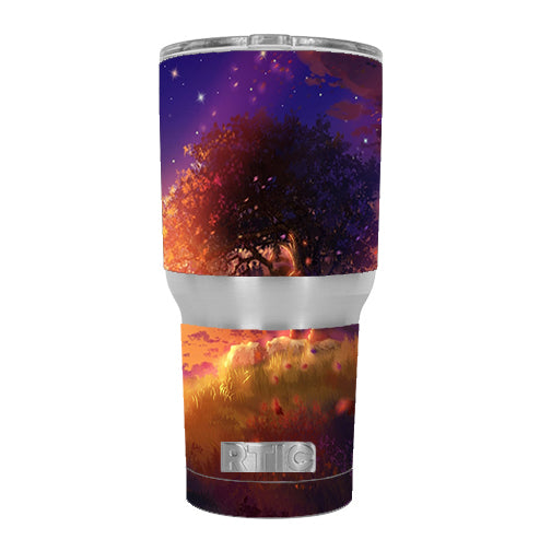 Beautiful Tree Stars Night RTIC 30oz Tumbler Skin
