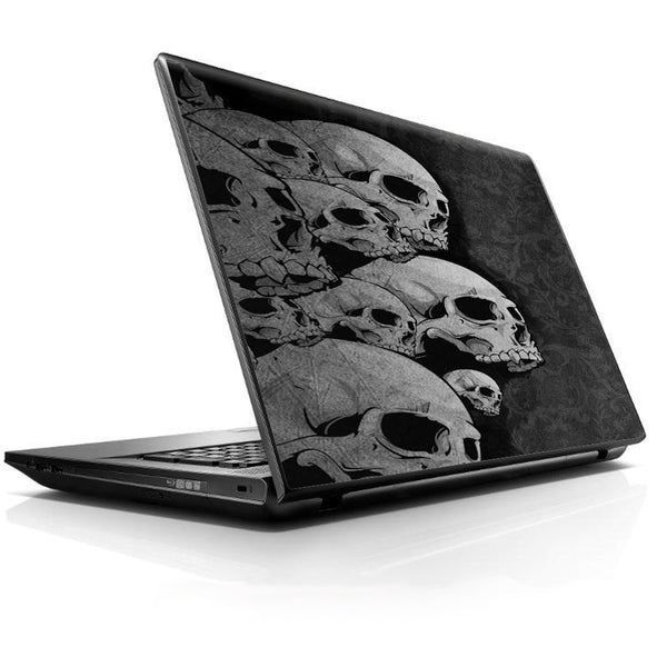 Skulls Stacked Universal 13 to 16 inch wide laptop Skin