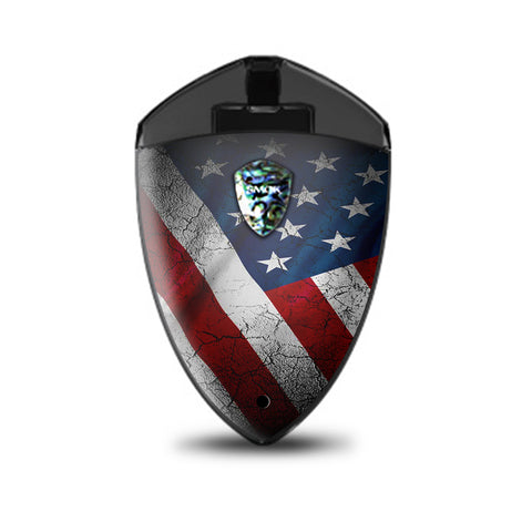 American Flag Distressed  Smok Rolo Badge Skin