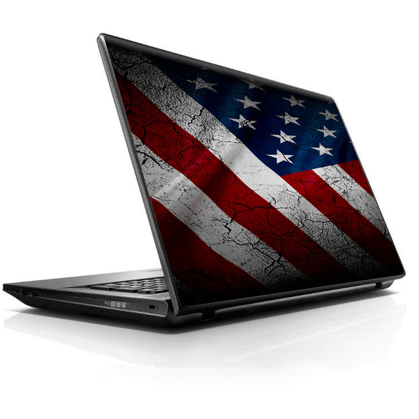 American Flag Distressed Universal 13 to 16 inch wide laptop Skin