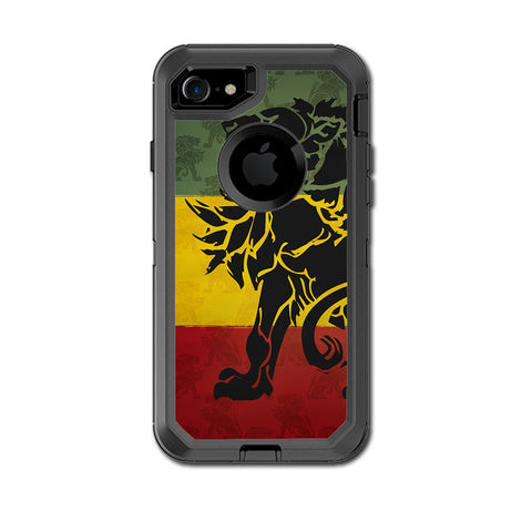 Rasta Lion Africa Otterbox Defender iPhone 7 or iPhone 8 Skin